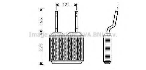 Радиатор печки AVA QUALITY COOLING OL6132