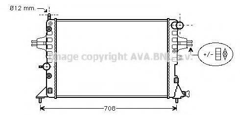 Радиатор охлаждения двигателя AVA QUALITY COOLING OLA2254