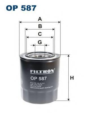 Фильтр масляный ДВС  FILTRON OP587