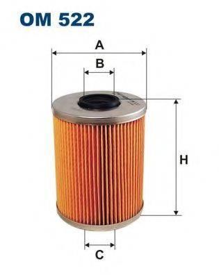 Фильтр масляный ДВС  FILTRON OM522