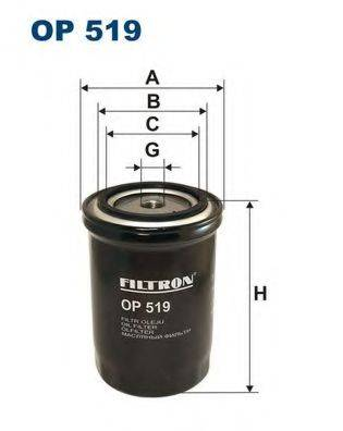 Фильтр масляный ДВС  FILTRON OP519