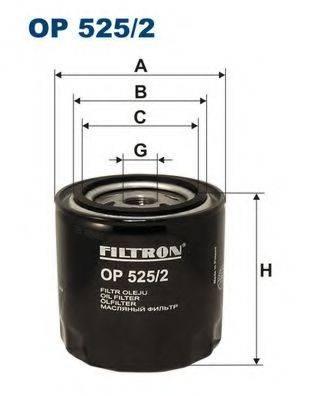 Фильтр масляный ДВС  FILTRON OP525/2