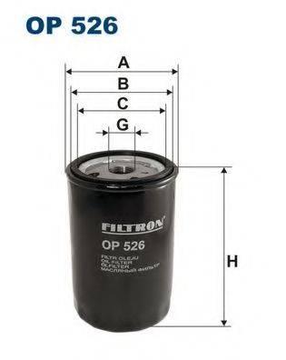 Фильтр масляный ДВС  FILTRON OP526