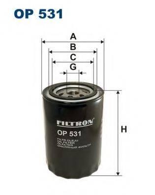 Фильтр масляный ДВС  FILTRON OP531
