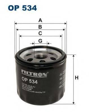 Фильтр масляный ДВС  FILTRON OP534