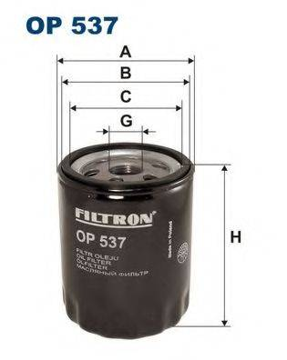 Фильтр масляный ДВС  FILTRON OP537