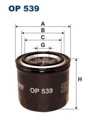 Фильтр масляный ДВС  FILTRON OP539
