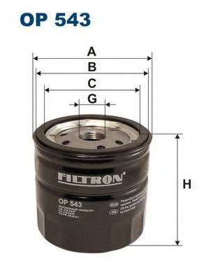 Фильтр масляный ДВС  FILTRON OP543