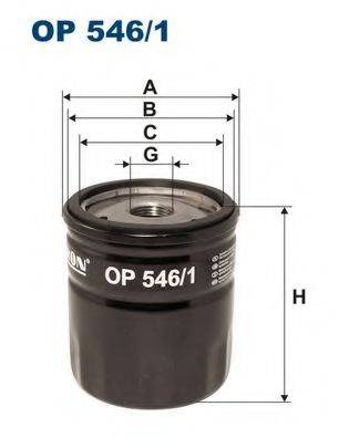 Фильтр масляный ДВС  FILTRON OP546/1