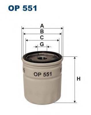 Фильтр масляный ДВС  FILTRON OP551