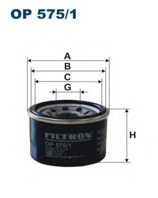 Фильтр масляный ДВС  FILTRON OP575/1