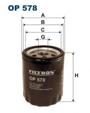 Фильтр масляный ДВС  FILTRON OP578