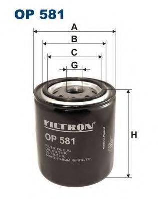 Фильтр масляный ДВС  FILTRON OP581