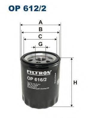 Фильтр масляный ДВС  FILTRON OP616/2