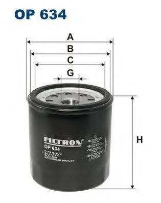 Фильтр масляный ДВС  FILTRON OP634