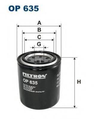 Фильтр масляный ДВС  FILTRON OP635