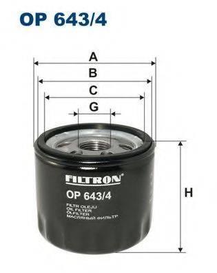Фильтр масляный ДВС  FILTRON OP643/4