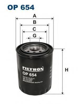 Фильтр масляный ДВС  FILTRON OP654