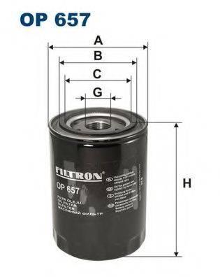 Фильтр масляный ДВС  FILTRON OP657