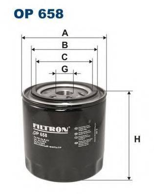 Фильтр масляный ДВС  FILTRON OP658