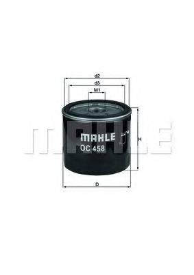 Фильтр масляный ДВС  MAHLE ORIGINAL OC 458