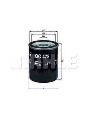 Фильтр масляный ДВС  MAHLE ORIGINAL OC 478