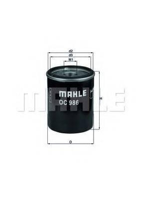 Фильтр масляный ДВС  MAHLE ORIGINAL OC 986