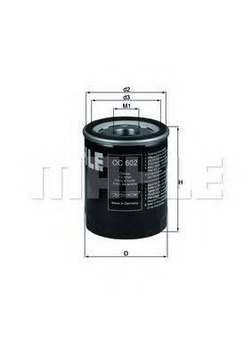 Фильтр масляный ДВС  MAHLE ORIGINAL OC 602