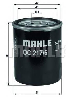 Фильтр масляный ДВС  MAHLE ORIGINAL OC 217/6