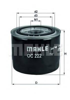 Фильтр масляный ДВС  MAHLE ORIGINAL OC 222
