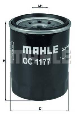 Фильтр масляный ДВС  MAHLE ORIGINAL OC 1177