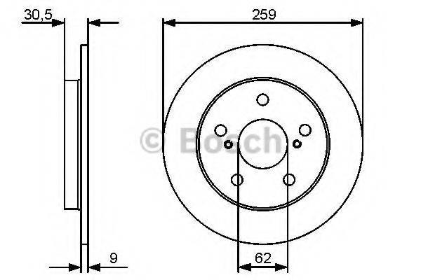 Тормозной диск BOSCH 0 986 479 418