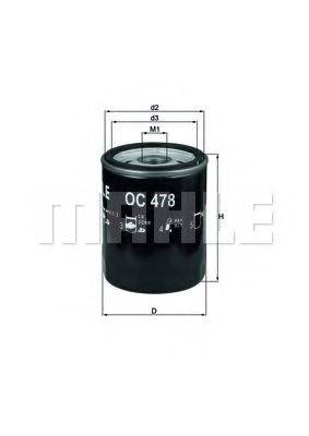 Фильтр масляный ДВС  KNECHT OC 478