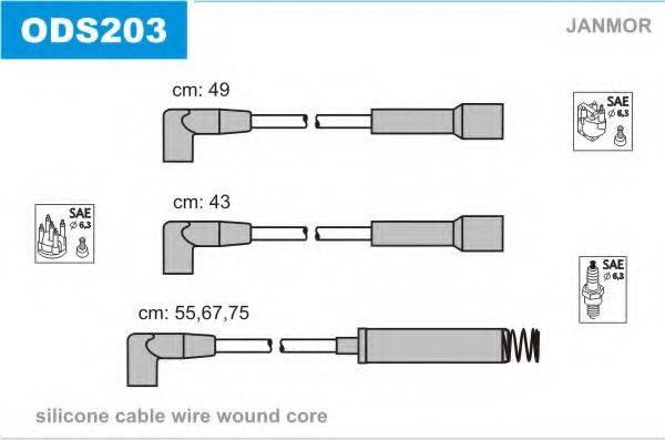 Комплект проводов зажигания JANMOR ODS203