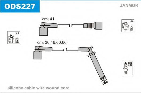 Комплект проводов зажигания JANMOR ODS227