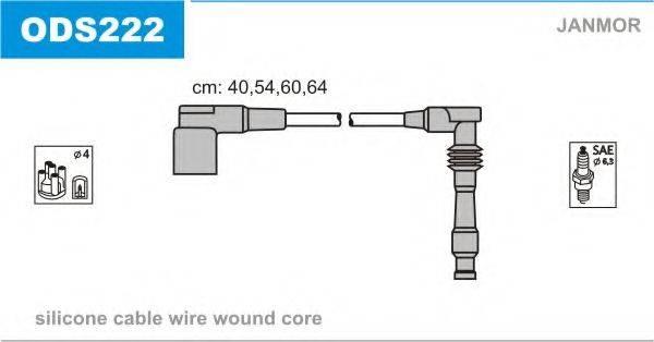 Комплект проводов зажигания JANMOR ODS222