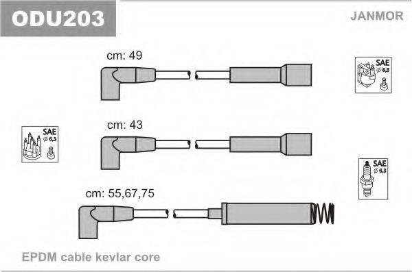 Комплект проводов зажигания JANMOR ODU203