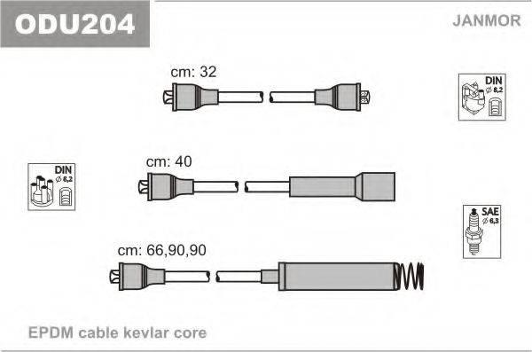 Комплект проводов зажигания JANMOR ODU204