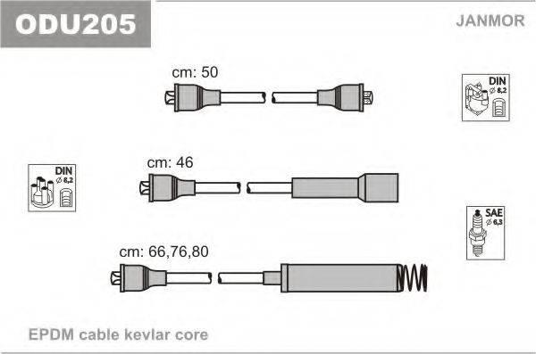 Комплект проводов зажигания JANMOR ODU205