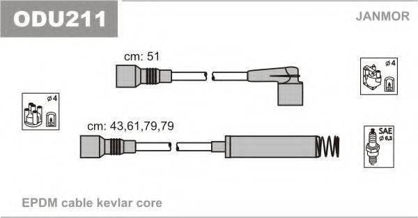 Комплект проводов зажигания JANMOR ODU211