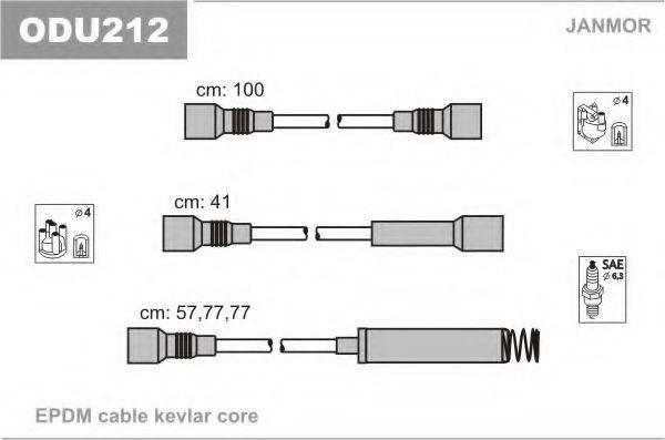 Комплект проводов зажигания JANMOR ODU212