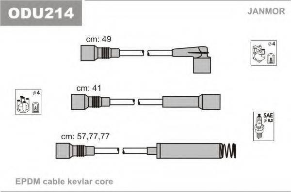 Комплект проводов зажигания JANMOR ODU214
