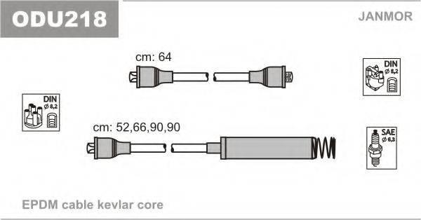 Комплект проводов зажигания JANMOR ODU218