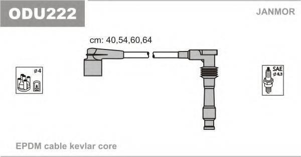 Комплект проводов зажигания JANMOR ODU222