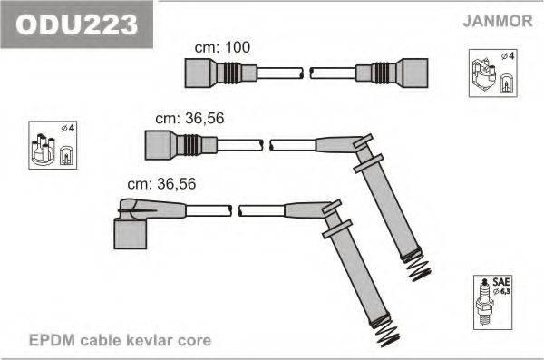 Комплект проводов зажигания JANMOR ODU223