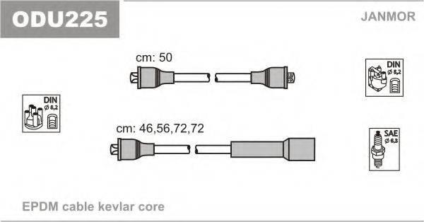 Комплект проводов зажигания JANMOR ODU225