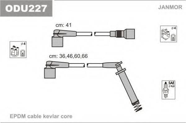 Комплект проводов зажигания JANMOR ODU227