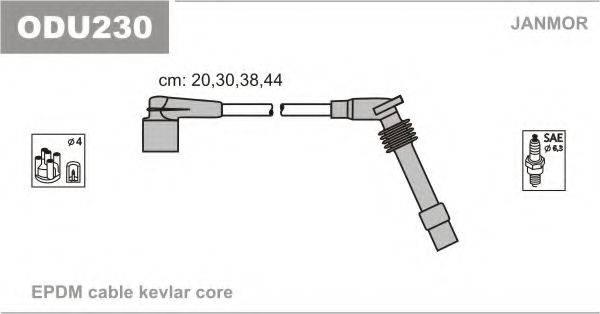 Комплект проводов зажигания JANMOR ODU230
