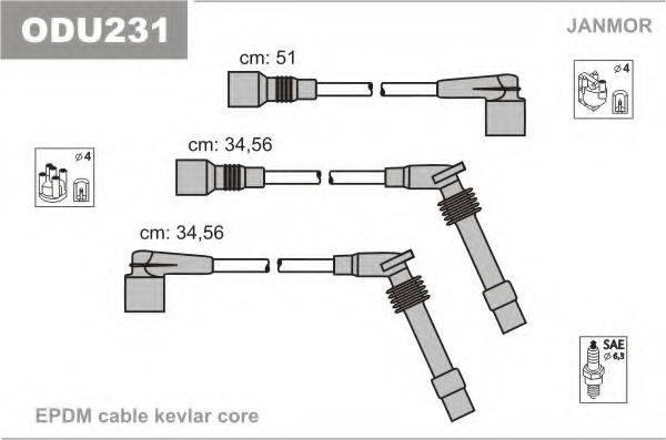 Комплект проводов зажигания JANMOR ODU231