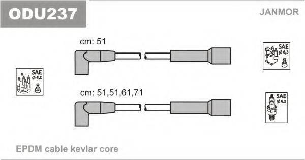 Комплект проводов зажигания JANMOR ODU237